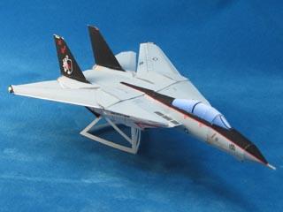 Maqueta 3D en papel del avión F 14A. Manualidades a Raudales.